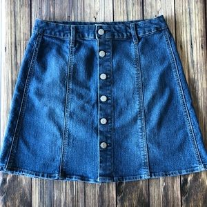 Mossimo Button Down Jean Skirt 10